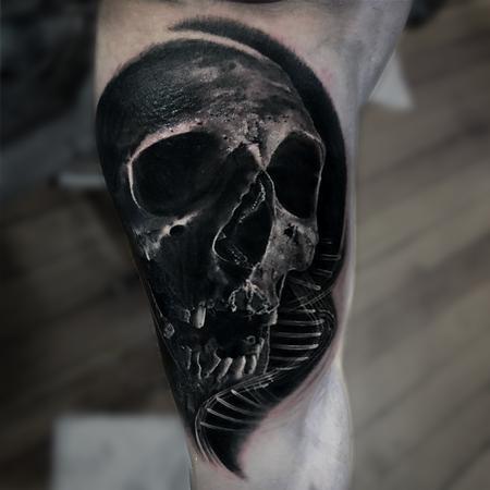 tattoos/ - Skull and DNA Tattoo - 133808