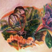 Realistic Bug and Flower Tattoo Tattoo Design Thumbnail