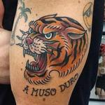 old school traditional tiger tattoo Tattoo Design Thumbnail