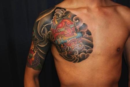 tattoos/ - Japanese Hanya Mask Tattoo - 68037