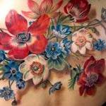 Antique Flowers Tattoo Design Thumbnail
