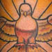 Stained Glass Dove with Filigree arm detail  Tattoo Design Thumbnail