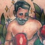 Traditional Fighter Tattoo Tattoo Design Thumbnail