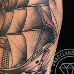 Traditional Clipper Ship Tattoo Design Thumbnail
