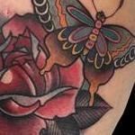 tattoo galleries/ - Butterfly and Rose Tattoo - 122645