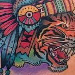 Traditional Tiger Chieftain Tattoo Tattoo Design Thumbnail