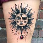 tattoos/ - Traditional Sun Tattoo - 130755