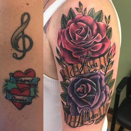 tattoos/ - Rose Cover Up by Chad Pelland - 134220