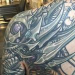 Biomech Back and Shoulder Tattoo Tattoo Design Thumbnail