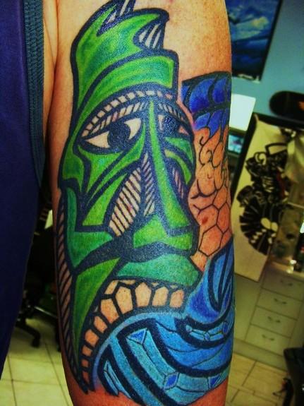 tattoos/ - Tiki Head Tattoo - 49429