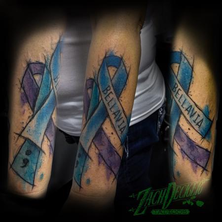 tattoos/ - Watercolor Awareness Ribbons - 131996