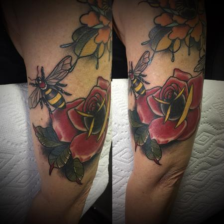 tattoos/ - Rose and bees - 132113