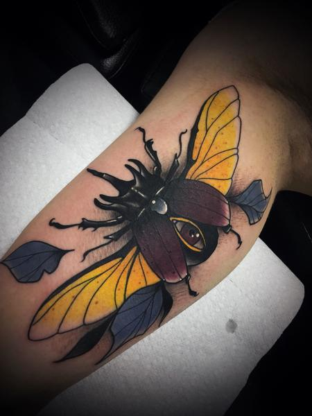 tattoos/ - Neo traditional beetle - 133012