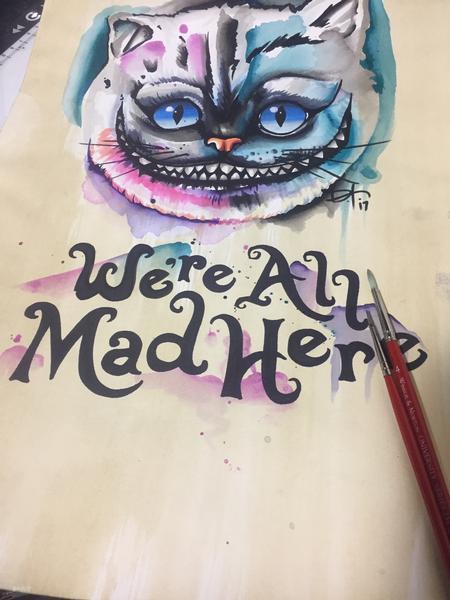 Art Galleries - Watercolor Cheshire Cat - 127757