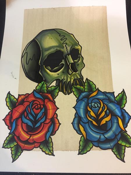 Art Galleries - Skull n roses - 127560