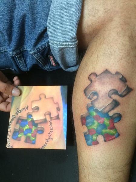 Body Part Leg - Puzzle pieces for autism
