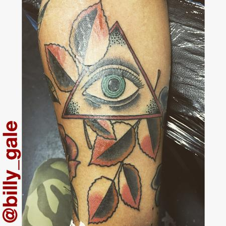 tattoos/ - All Seeing Eye with Fall colored leaves.. - 129211