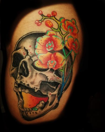 tattoos/ - skull flowers - 133870