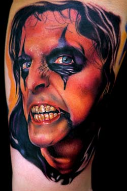 Looking for unique Mike Demasi Tattoos?  Alice Cooper