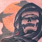 Traditional grim reaper with gun tattoo, Gary Dunn Art Junkies Tattoo  Tattoo Design Thumbnail