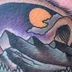 Traditional color bear with mountains tattoo. Gary Dunn Art Junkies Tattoo  Tattoo Design Thumbnail