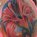 realistic colored flowers with butterfly tattoo, Brent Olson Art Junkies Tattoo Tattoo Design Thumbnail