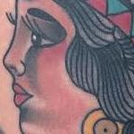 Traditional color indian girl tattoo, Gary Dunn Art Junkies Tattoo Tattoo Design Thumbnail