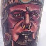 Traditional color Mayan Warrior Gary Dunn Art Junkies Tattoo Tattoo Design Thumbnail
