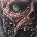 Realistic black and gray zombie tattoo, Scott Grosjean Art Junkies Tattoo Tattoo Design Thumbnail