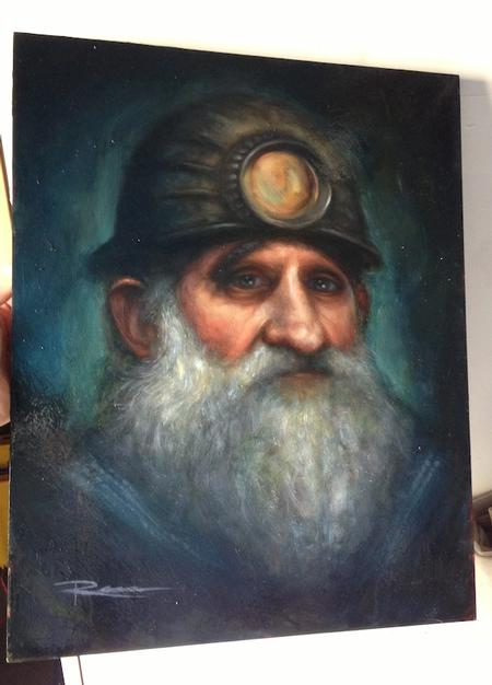 Art Galleries - Old Man Miner Commission - 75959