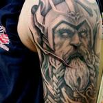 viking warrior tattoo black and grey Tattoo Design Thumbnail