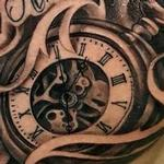 time tattoo clock pocket watch tommorow never comes until the next day Tattoo Design Thumbnail