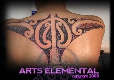 tattoos/ - Ta moko back - 49569