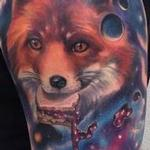 Fox Space Jelly Tattoo Design Thumbnail