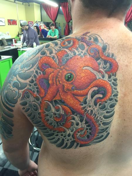 Traditional Old School - octopus