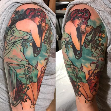 tattoos/ - Alphonse Mucha Reproduction Tattoo - 123663