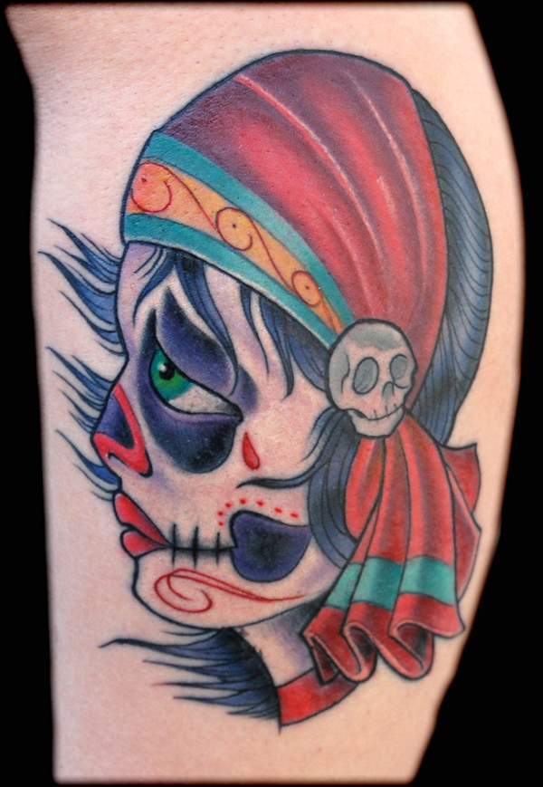 MEMPHIS - day of the dead gypsy girl tattoo