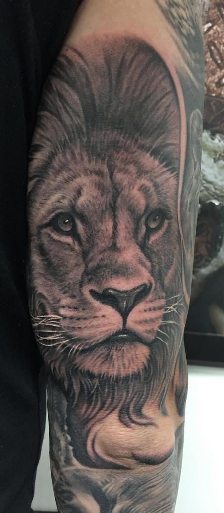 tattoos/ - Lion Portrait Tattoo - 115682