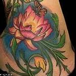 Lotus and Butterflies Hip Tattoo Tattoo Design Thumbnail