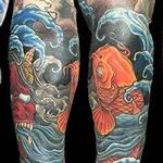 Koi and Oni forearm tattoo Tattoo Design Thumbnail