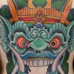 CUSTOM COLOR BALI MASK Tattoo Design Thumbnail
