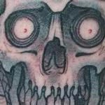 Custom color japanese samurai / skull Tattoo Design Thumbnail