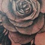 black and grey rose flower tattoo Tattoo Design Thumbnail
