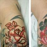 draw on custom Color rose tattoo  Tattoo Design Thumbnail