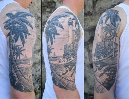 tattoos/ - Tropical Light House - 133361