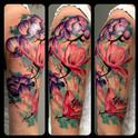 Watercolor Flowers Tattoo Design Thumbnail