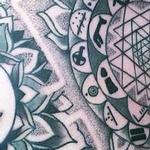 Sri yantra and Extraterestrial stuff Tattoo Design Thumbnail