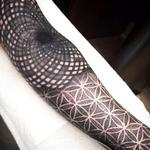 Flower of life and black hole Tattoo Design Thumbnail