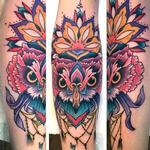 Ornate owl Tattoo Design Thumbnail