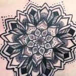 mandala on front of shoulder Tattoo Design Thumbnail